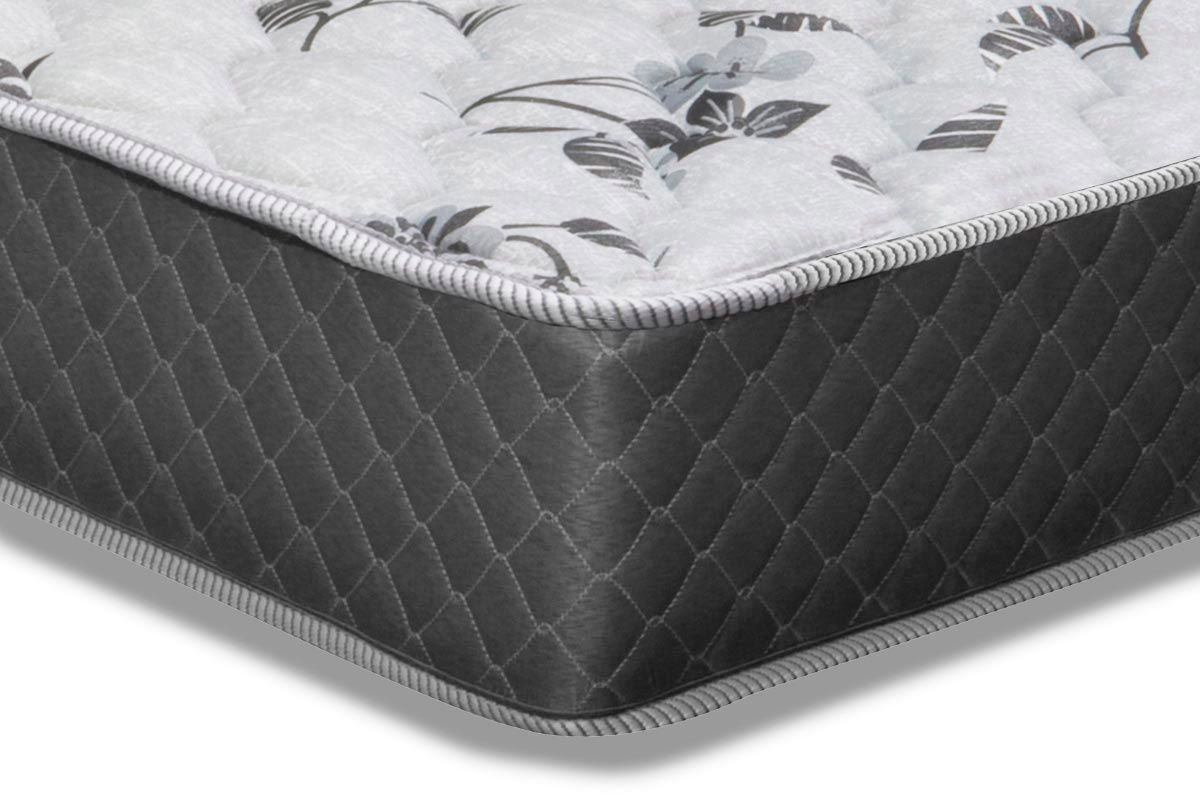 Conjunto Box: Colchão Herval Ortopedic Black + Cama Box Nobuck Nero Black